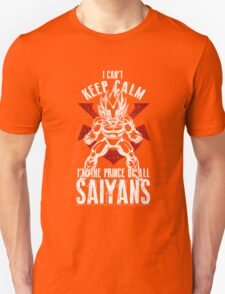 Vegeta Can't Keep Calm Super Saiyans T-Shirt
