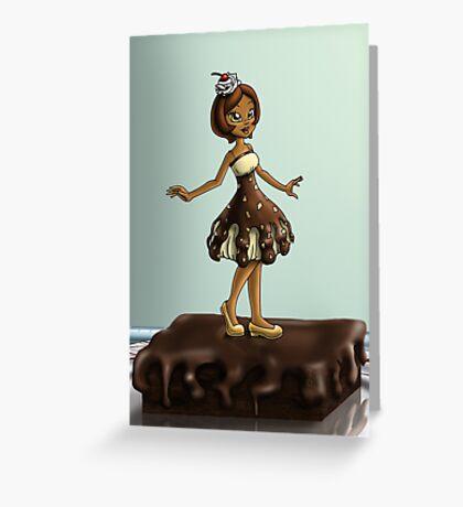 Sweet Chocolate Sundae Zenobia Greeting Card