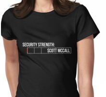 Seriously, Scott? - white text Womens Fitted T-Shirt