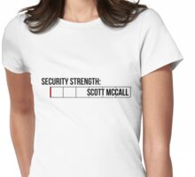 Seriously, Scott? - black text Womens Fitted T-Shirt