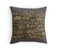 Machu Pichu Stone Wall Throw Pillow