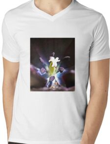 Black Iris Mens V-Neck T-Shirt