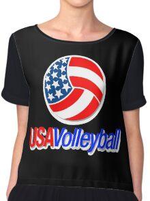 USA TEAM VOLLEYBALL  Chiffon Top
