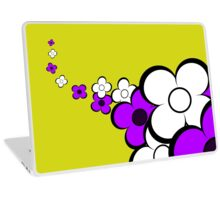 Purple and White Flowers Laptop Skin