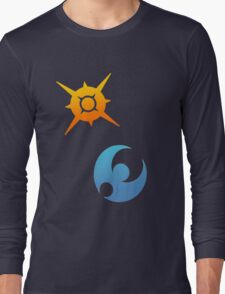 Pokemon Sun and Moon Symbols Long Sleeve T-Shirt