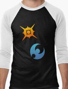 Pokemon Sun and Moon Symbols Men's Baseball ¾ T-Shirt