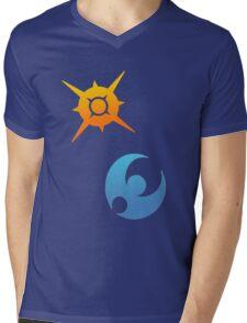 Pokemon Sun and Moon Symbols Mens V-Neck T-Shirt