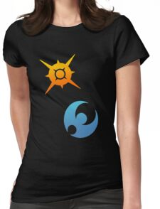 Pokemon Sun and Moon Symbols Womens Fitted T-Shirt