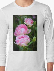 Pink Peony Long Sleeve T-Shirt