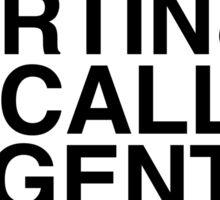 McCall Pack (Season 3B) - black text (v1) Sticker