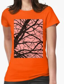 Bold Pink Tree Womens Fitted T-Shirt