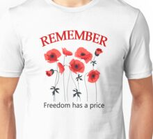 POPPIES OF REMEMBRANCE Unisex T-Shirt