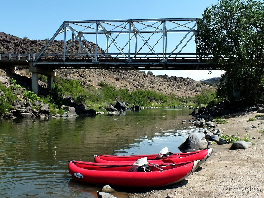 Recreation on the Rio Grande River by Lucinda Walter