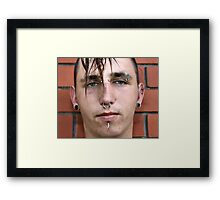 Punk In Your Face Framed Print