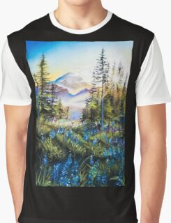 Pastel Mountains Graphic T-Shirt