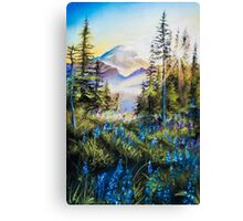 Pastel Mountains Canvas Print