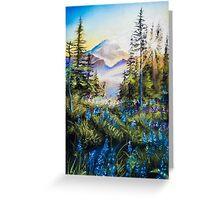 Pastel Mountains Greeting Card