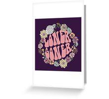 Twenty Loner Goner Floral Hippie Greeting Card