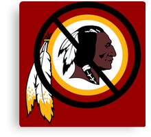 Anti Washington Redskins Canvas Print
