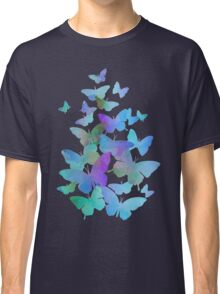 Delicate Blue Butterflies Classic T-Shirt