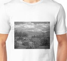 The Desert Floor ~ Snow Covered Mountains ~ Just Another Winter Day in the Desert Southwest Unisex T-Shirt
