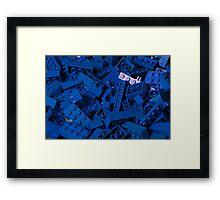 Blue Lego Bricks Framed Print