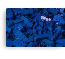 Blue Lego Bricks Canvas Print