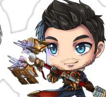 League of Legends Chibi Jarvan Jayce Zed Sticker
