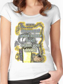 Petrol in food & drinks Women's Fitted Scoop T-Shirt