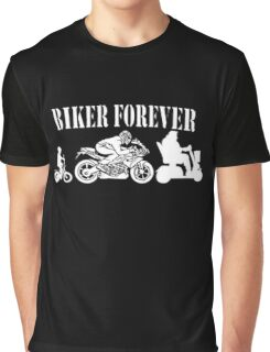 Biker Forever Motorcycle Graphic T-Shirt
