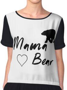 Mama Bear, Animal, Bear Chiffon Top