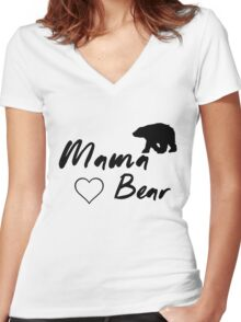 Mama Bear, Animal, Bear Women's Fitted V-Neck T-Shirt
