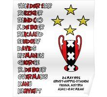 Ajax 1995 Champions League Final Winners Poster