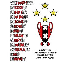 Ajax 1995 Champions League Final Winners Photographic Print
