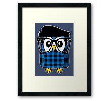 Owl Hipster Framed Print