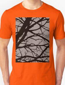 Silver Grey Tree Unisex T-Shirt