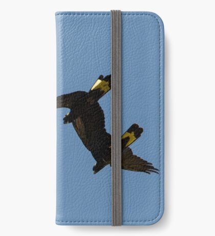 Yellow-tailed Black Cockatoos iPhone Wallet/Case/Skin