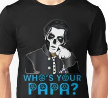 PAPA III - blue letters Unisex T-Shirt