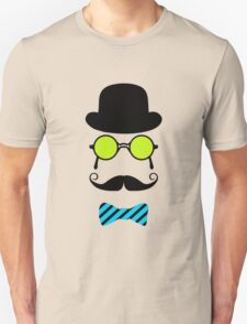 Hipster Mustache disguise trendy retro vintage graphic T-Shirt