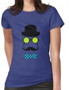 Hipster Mustache disguise trendy retro vintage graphic Womens Fitted T-Shirt