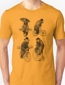 Bears on Bicycles Unisex T-Shirt