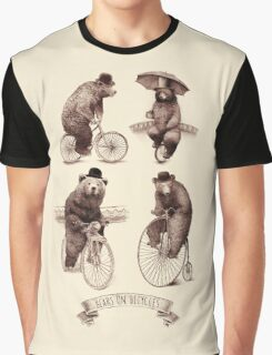 Bears on Bicycles Graphic T-Shirt