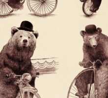 Bears on Bicycles Sticker