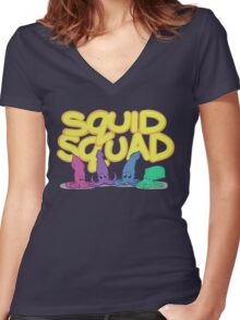 Squid Squad Women's Fitted V-Neck T-Shirt
