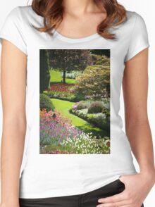 Garden Sanctuary Women's Fitted Scoop T-Shirt
