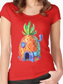 Spongbob Home Sweet Home Women's Fitted Scoop T-Shirt
