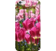 Fields of Pink Tulips iPhone Case/Skin