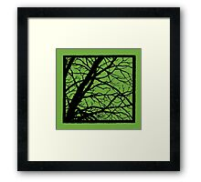 Earth Lime GreenTree Framed Print