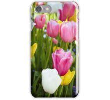 Pink White Yellow Tulips iPhone Case/Skin