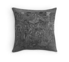 Adoration of the Christ-child Throw Pillow